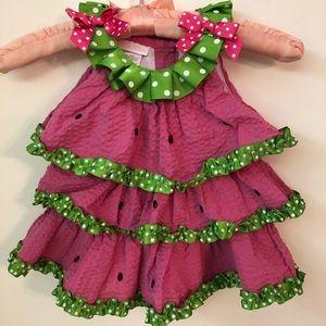 Bonnie Baby Watermelon Dress - size 18M